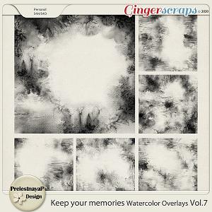 Keep your memories Watercolor Overlays Vol.7