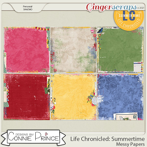Life Chronicled: Summertime - Messy Papers by Connie Prince
