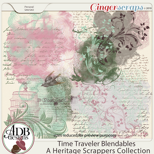 Time Traveler Background Blendables by ADB Designs