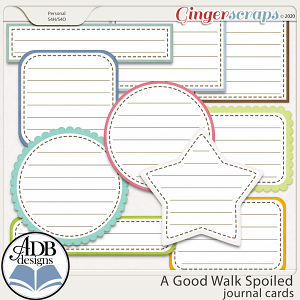A Good Walk Spoiled Journal Cards by ADB Designs