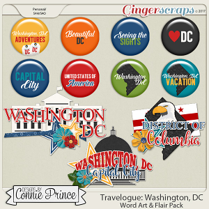 Travelogue Washington, DC - Word Art & Flair Pack