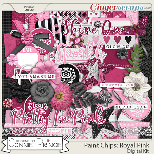 Paint Chips Royal Pink - Kit by Connie Prince