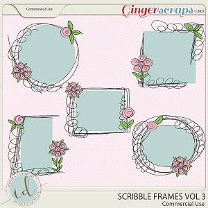 CU Scribble Frames Vol 3 by Ilonka's Designs
