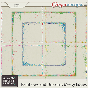 Rainbows and Unicorns Messy Edges by Aimee Harrison