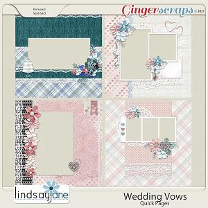 Wedding Vows Quick Pages by Lindsay Jane