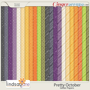 Pretty October Glitter Papers by Lindsay Jane