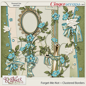 Forget-Me-Not Clustered Borders