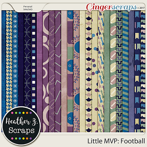 Little MVP: Football PAPERS by Heather Z Scraps