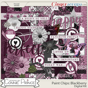 Paint Chips Blackberry - Kit by Connie Prince