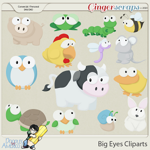 Doodles By Americo: Big Eyes Cliparts