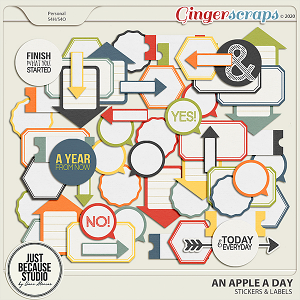 An Apple A Day Stickers by JB Studio