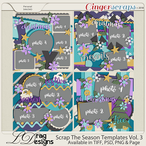 Scrap The Season Templates Vol. 3 by LDragDesigns