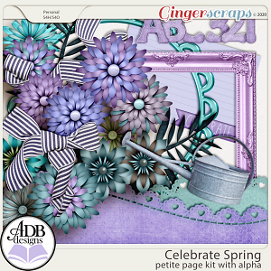 Celebrate Spring Page Kit & Alpha by ADB Designs