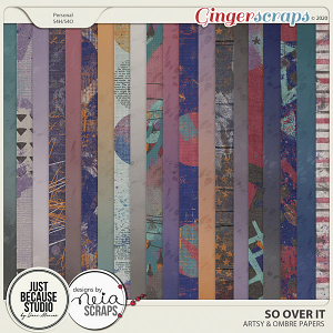 So Over It Artsy & Ombré Papers by JB Studio and Neia Scraps