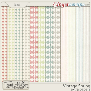 Vintage Spring Extra Papers by Tami Miller Designs