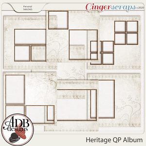 Heritage Resource - Quick Page Album by ADB Designs