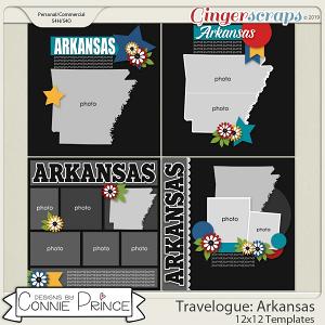 Travelogue Arkansas - 12x12 Temps (CU Ok) by Connie Prince
