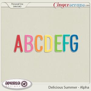 Delicious Summer Alpha by Aprilisa Designs