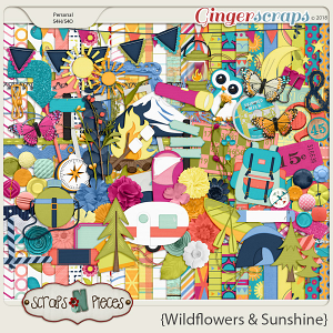 Wildflowers and Sunshine kit by Scraps N Pieces