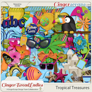 GingerBread Ladies Collab: Tropical Treasures