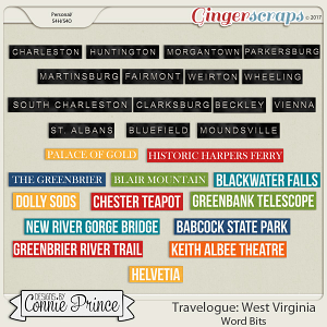Travelogue West Virginia - Word Bits