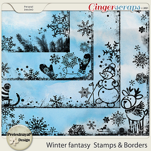 Winter fantasy Stamps & Borders