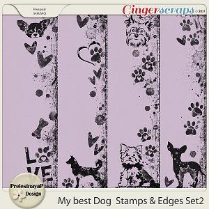 My best Dog Stamps & Edges Set2