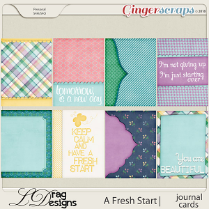 A Fresh Start: Journal Cards by LDragDesigns