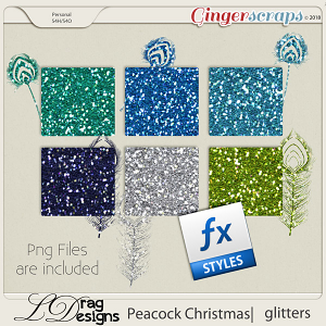 Peacock Christmas: Glitterstyles by LDragDesigns