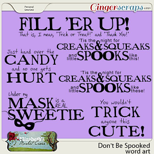 Don't Be Spooked Word Art