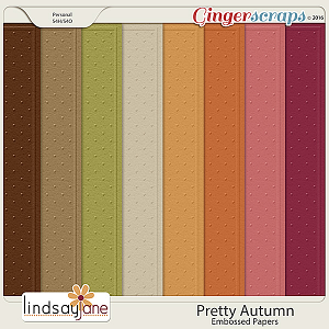 Pretty Autumn Embossed Papers by Lindsay Jane