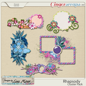 Rhapsody Cluster Pack from Designs by Lisa Minor