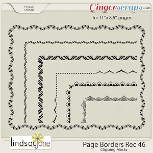 Page Borders Rec 46 by Lindsay Jane