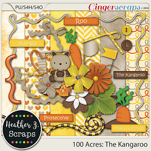 100 Acres THE KANGAROO MINI KIT by Heather Z Scraps
