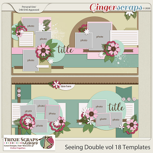 Seeing Double vol 18 Template Pack by Trixie Scraps Designs