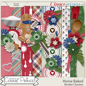 Home Baked - Border Clusters by Connie Prince