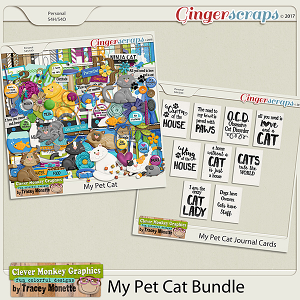 My Pet Cat Bundle by Clever Monkey Graphics