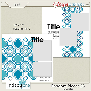 Random Pieces 28 Templates by Lindsay Jane