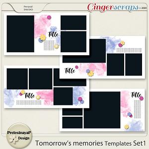 Tomorrow's memories templates Set 1
