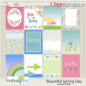Beautiful Spring Day Journal Cards by Lindsay Jane