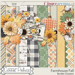 Farmhouse Fall - Border Clusters by Connie Prince