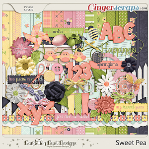 Sweet Pea Digital Scrapbook Kit By Dandelion Dust Designs