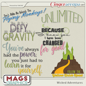 Wicked Adventures WORD ART by MagsGraphics