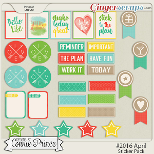 #2016 April - Sticker Pack