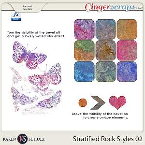 Stratified Rock Styles 02 by Karen Schulz