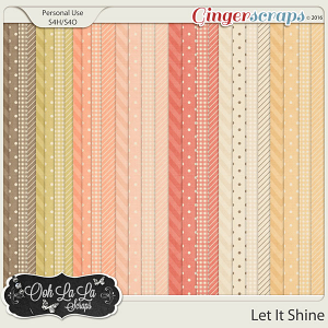 Let It Shine Pattern Papers