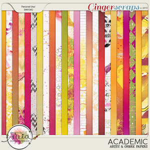 Academic - Artsy & Ombre Papers - by Neia Scraps