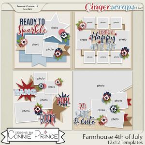 Farmhouse 4th of July - 12x12 Templates (CU Ok) by Connie Prince