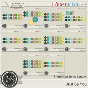 Just Be You CU Photoshop Styles Bundle