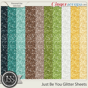 Just Be You 12x12 Glitter Sheets